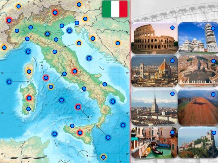 Taliansko geografia online hra