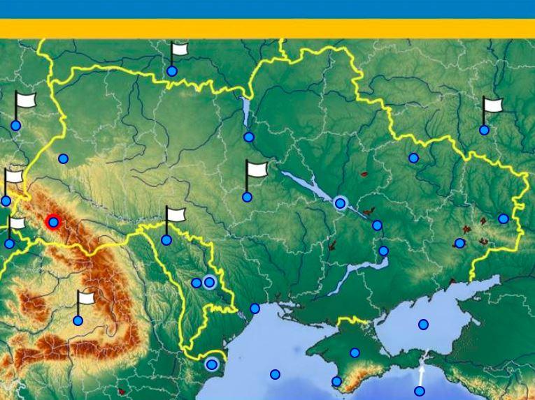 Ukrajina mapa hra