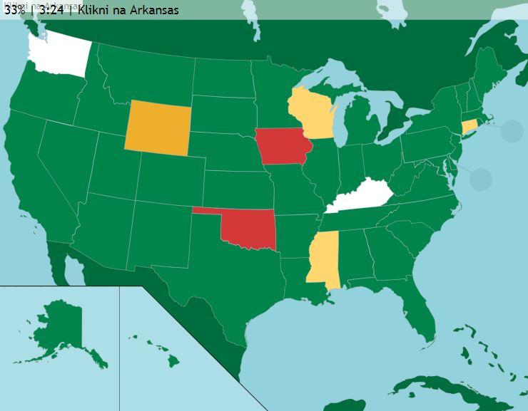 Štáty amestá USA (mapové hry)