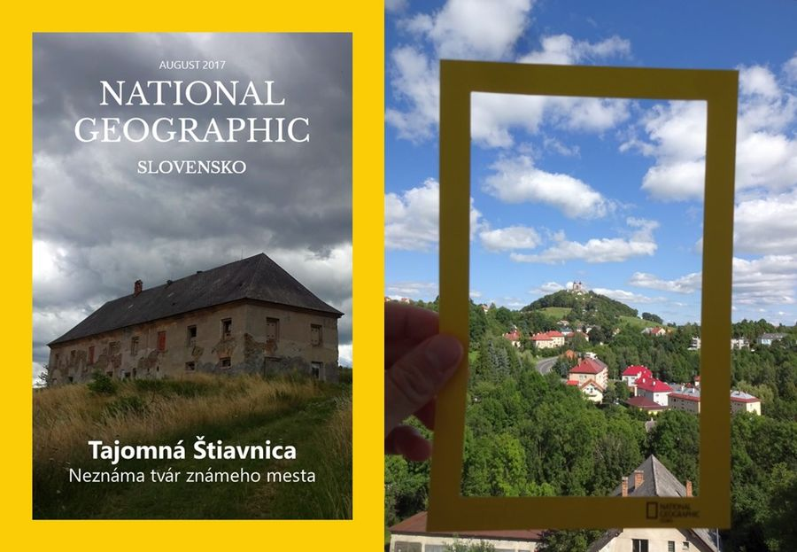 žltý rámček National Geographic