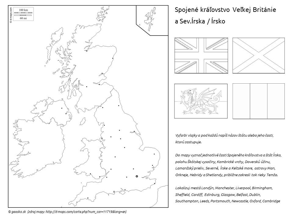 pracovný list Spojené kráľovstvo Veľkej Británie a Severného Írska