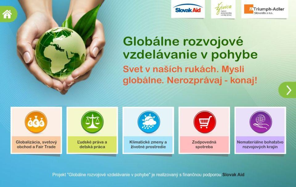 Globálne rozvojové vzdelávanie vpohybe (interaktívny e-learningový modul)