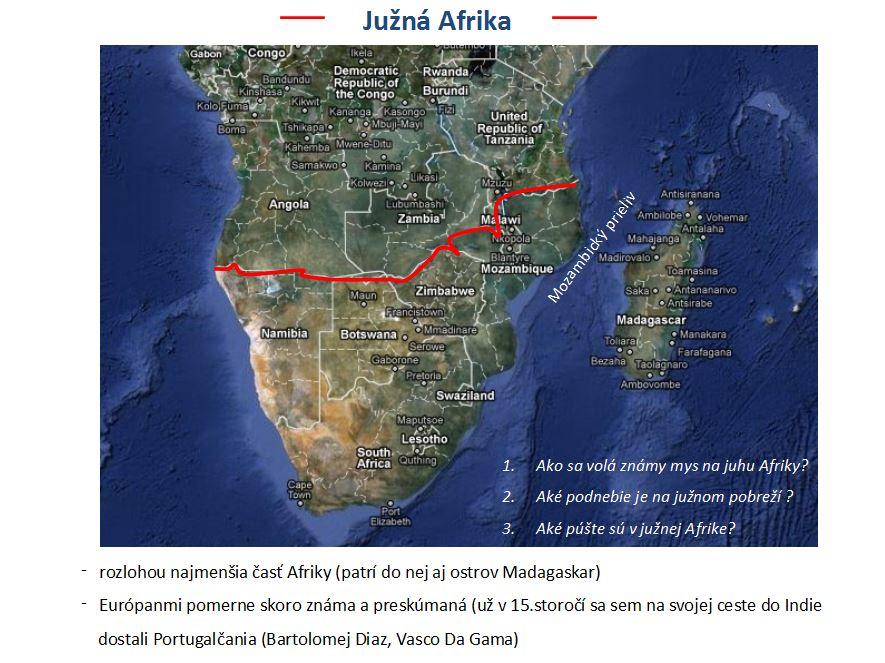 južná Afrika prezentácia