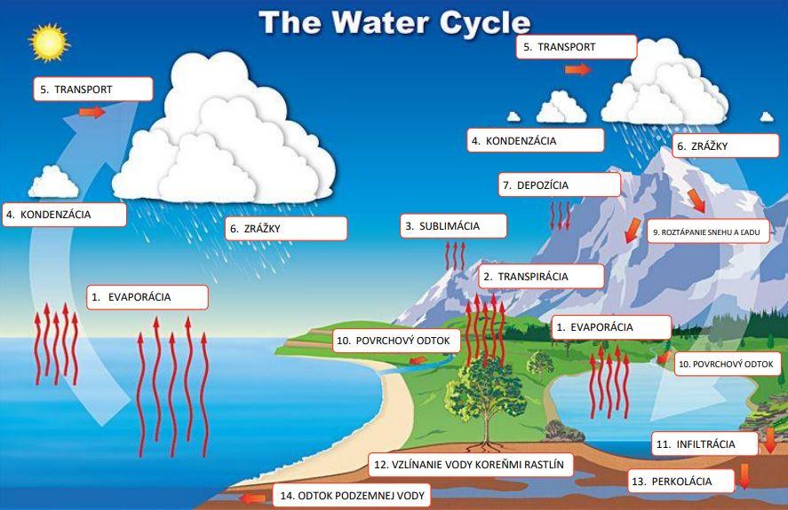 vodný cyklus škola