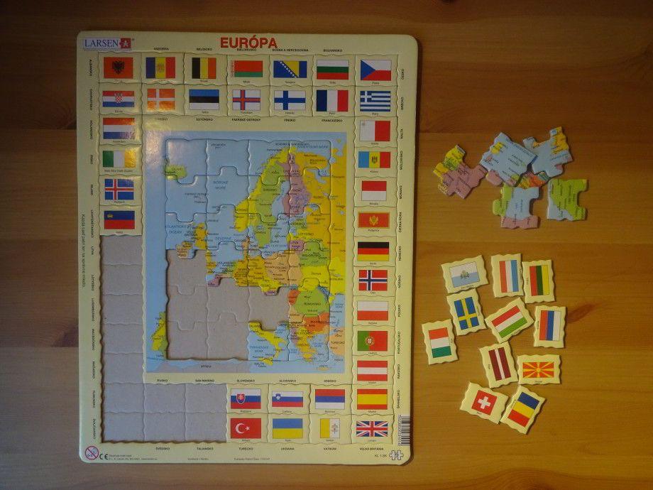 Larsen mapové puzzle