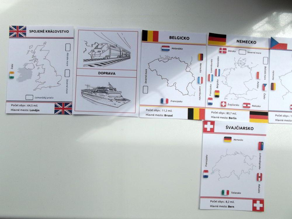 mapové domino Európa