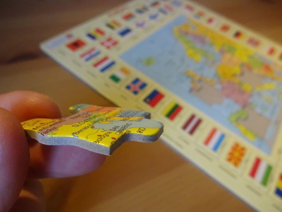 puzzle mapa Európy