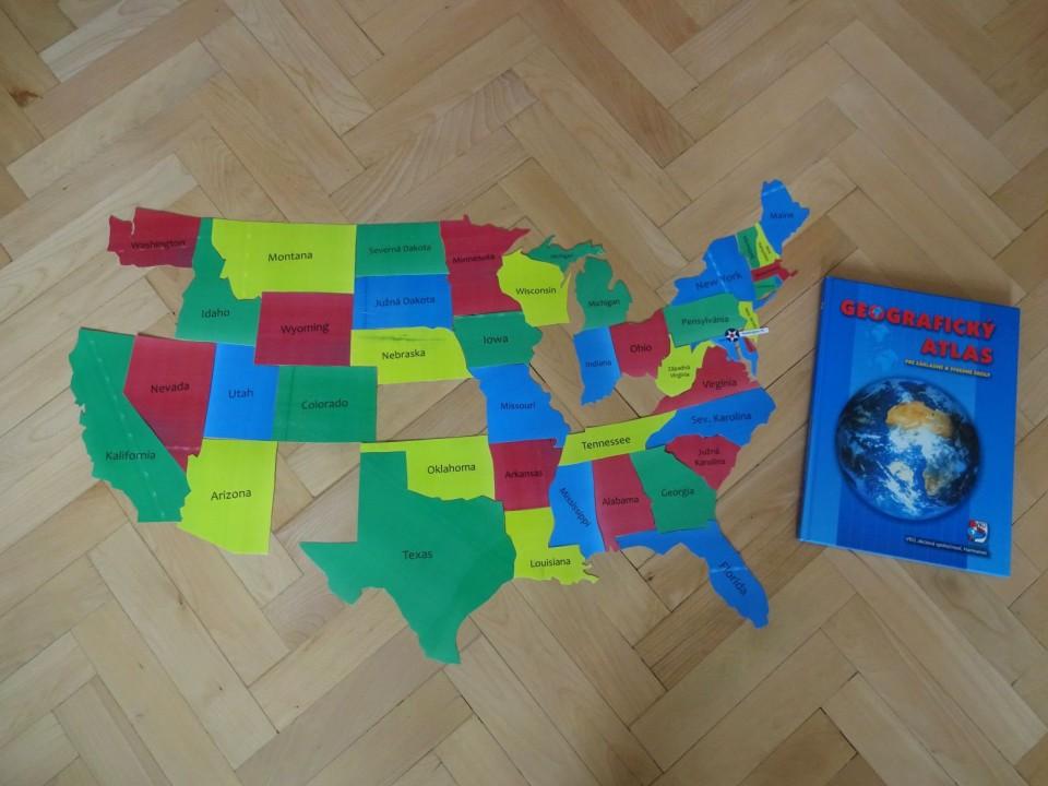 mapové puzzle USA