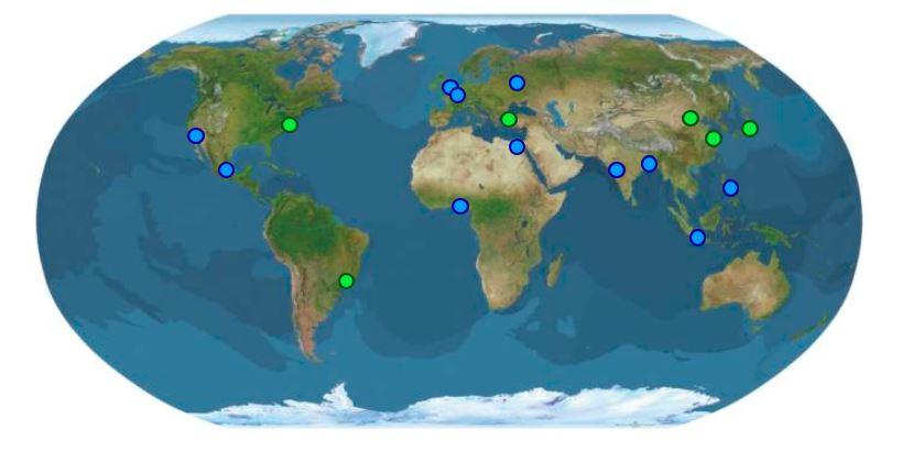 najväčšie mestá sveta mapa