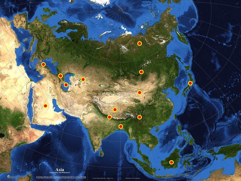 príroda Ázie prezentácia