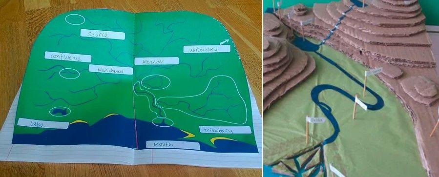 papierový model povodia