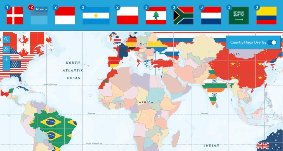Ako poznáte vlajky sveta? Priraďte ich kštátom namape