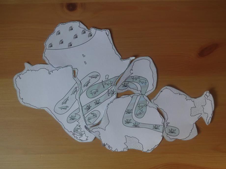 Wegener puzzle prakontinent