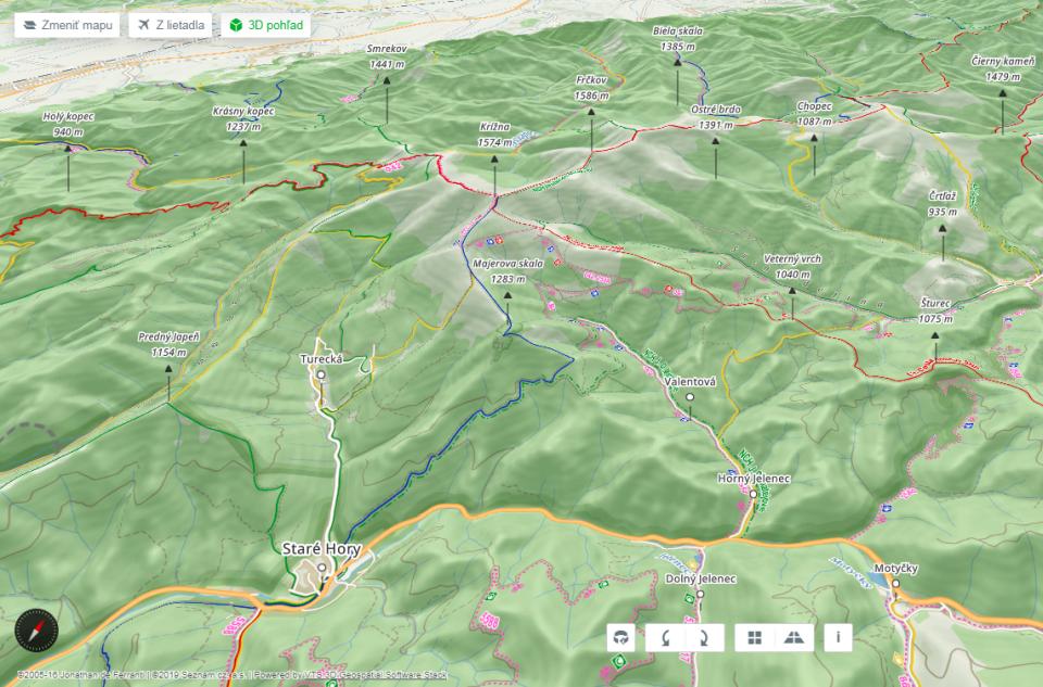 Na portáli Mapy.cz sú už aj3D turistické mapy