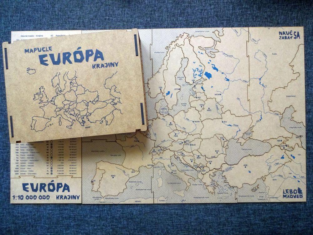 Hľadáte kvalitné mapové puzzle? Tie slovenské odLeboMädveď sú priam zberateľské kúsky