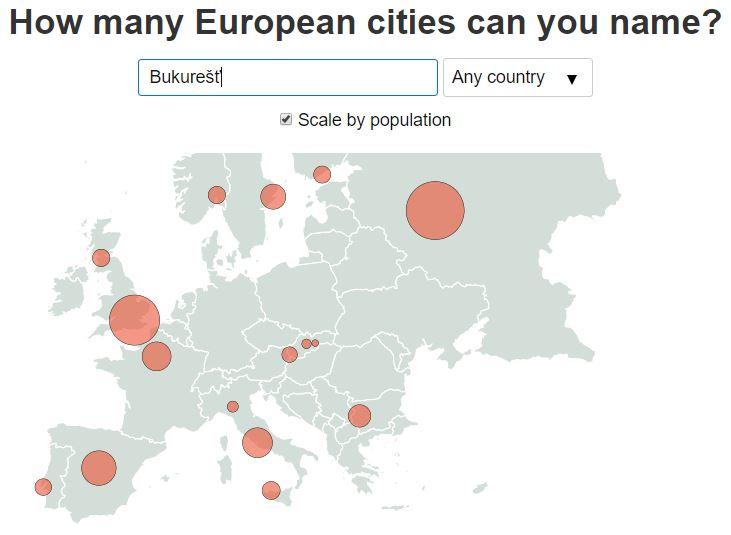 Koľko miest Európy aleboUSA poznáte? Zahrajte sa originálnu mapovú hru
