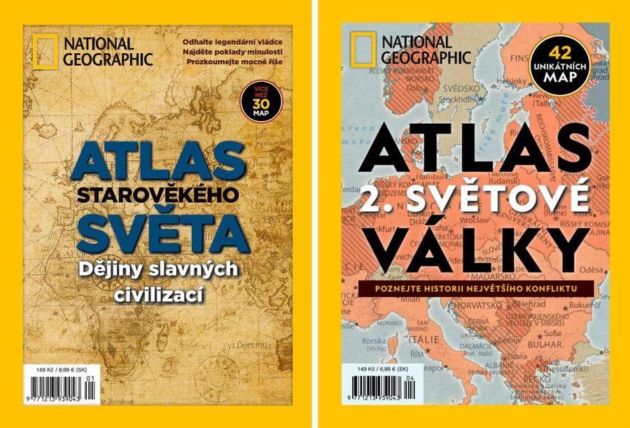 Stiahnite si dva historické atlasové špeciály českého National Geographic zdarma.