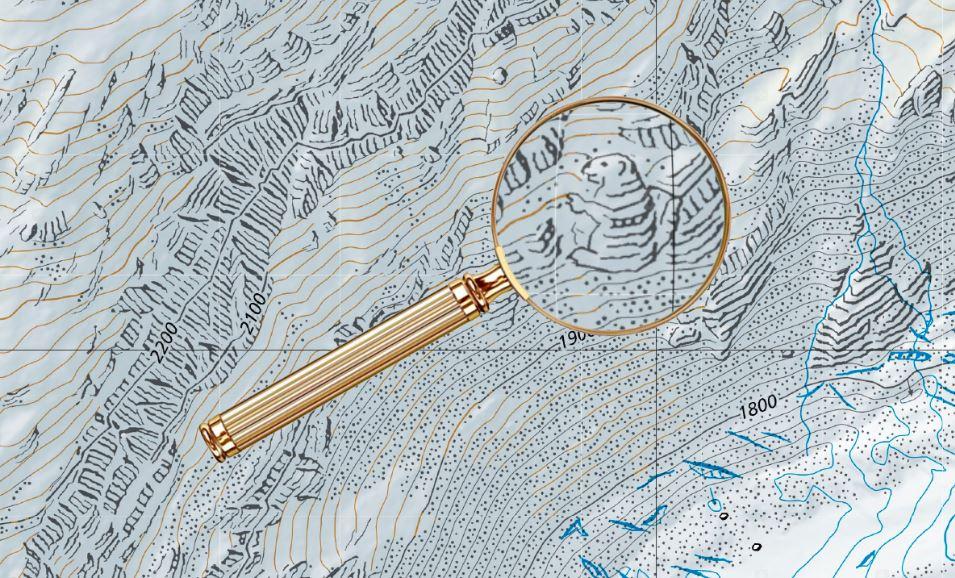 Aj kartografi majú zmysel prehumor. Švajčiarske oficiálne mapy skrývajú viacero obrázkov