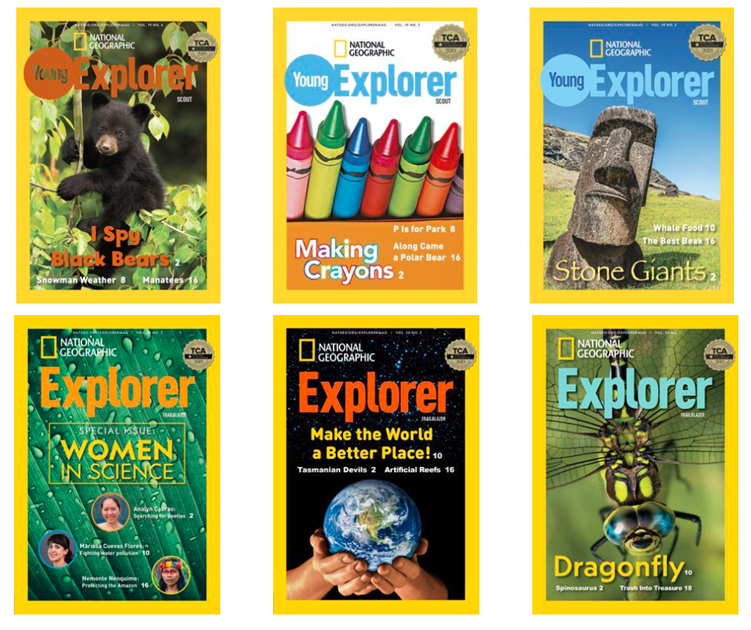 Detské digitálne časopisy National Geographic Explorer využijete nielen nageografii aangličtine